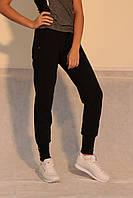 Женские спортивные штаны ADIDAS (1102) черные код 0004Б
