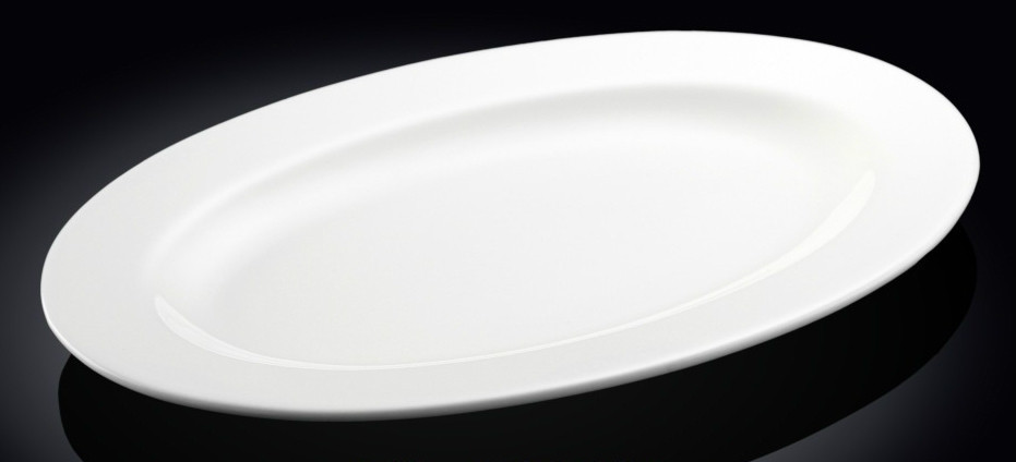 Блюдо для сервировки овальное с полями Wilmax 36 см