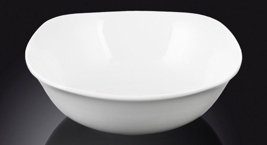 Салатник фарфоровый квадратный Wilmax 15 см