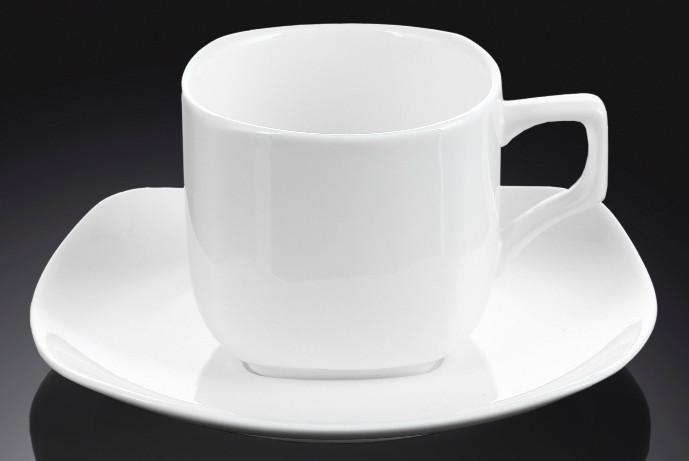 Чашка фарфоровая для кофе+блюдце WILMAX WL-993041 90 мл