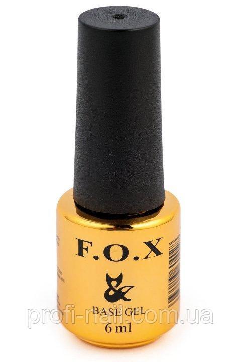 Базовое покрытие для ногтей F.O.X Base 6мл.