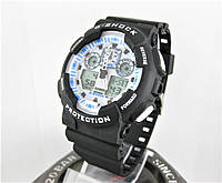 Часы Casio G-Shock GA-100 black/white. Реплика ТОП качества!, фото 1