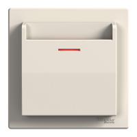 Двухполюсный одноклавишный выключатель ASFORA белый, Schneider Electric