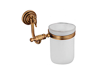 Стакан для зубных щеток KUGU Versace Antique 206A (латунь, бронза, стекло)(Бесплатная доставка  )