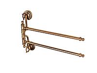 Полотенцедержатель двойной KUGU Versace Antique 242A (латунь, бронза)(Бесплатная доставка  )