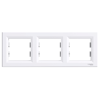 Трехместная горизонтальная рамка ASFORA белая, Schneider Electric,EPH5800321