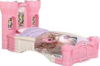 """Детский плед 110*140 из флиса """"Мишка и зайчик на розовом"""""""