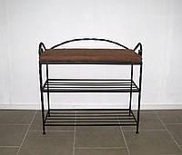 Пуфик кованый с полочками малый 60см, фото 1