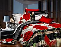 Комплект постельного белья Красные розы ренфорс евро