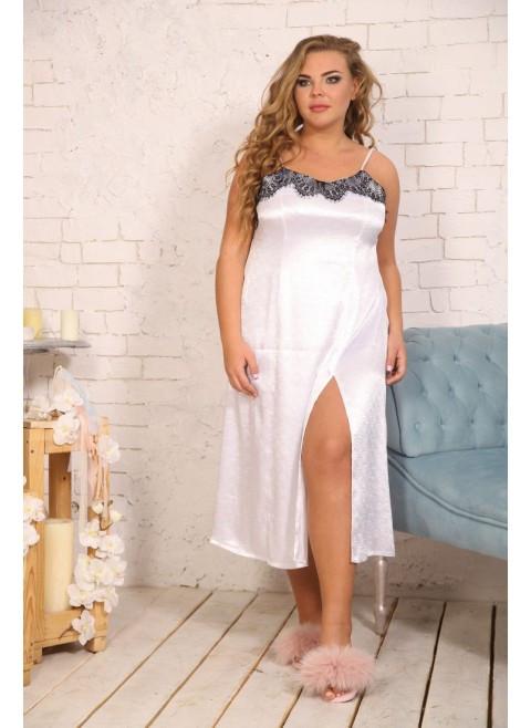 c29a71e7d92bf Женская рубашка для сна ниже колена Блеск / размер 48-72 / большие размеры