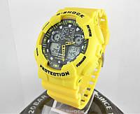 Часы Casio G-Shock GA-100 yellow/black. Реплика ТОП качества!, фото 1