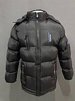 Черная мужская куртка, синтепон