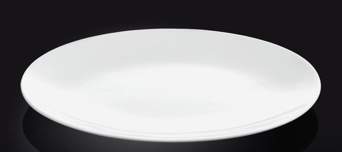 Тарелка фарфоровая подставная Wilmax WL-991014 круглая без полей (23 см)
