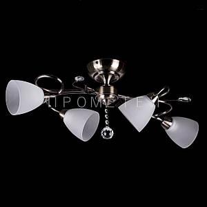 Люстра на 4 лампочки (антична бронза). P3-26422/4C/AB+WT