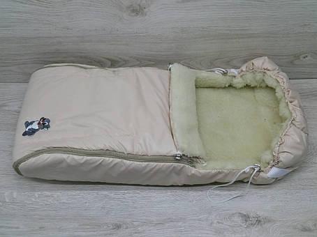Зимний чехол на овчине в коляску санки, фото 2