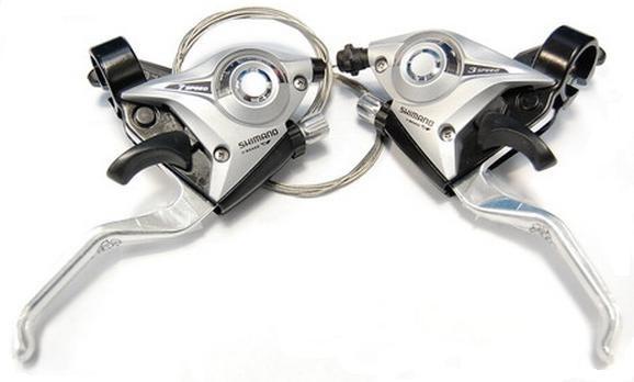 Моноблоки Shimano Altus ST-EF51, пара 3+7 скоростей +тросики