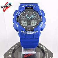 Часы Casio G-Shock GA-100 blue/black. Реплика ТОП качества!, фото 1