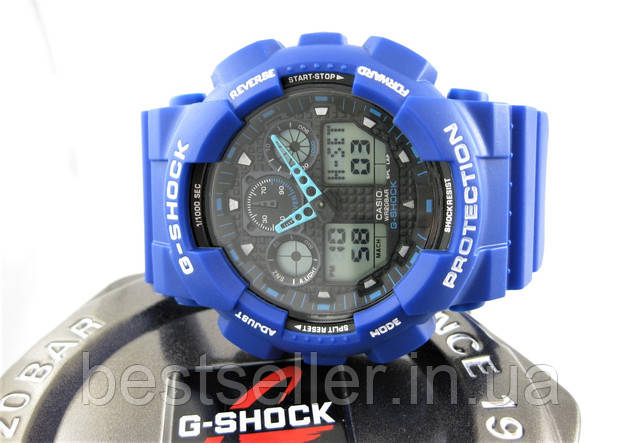 Часы Casio G-Shock GA-100 blue/black.