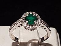 Серебряное кольцо Алина с агатом. Артикул 1691/9р-GAG 16,5, фото 1
