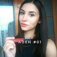 Помада жидкая стойкая Liquid lipstick Aden  № 1