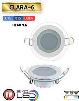 Светильник DOWNLIGHTS (круг) LED 6W 6400K белый, фото 2