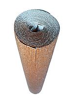 ИТАЛЬЯНСКАЯ ГОФРИРОВАННАЯ БУМАГА CARTOTECNICA ROSSI металлик Железо+белая 50X250 СМ N808