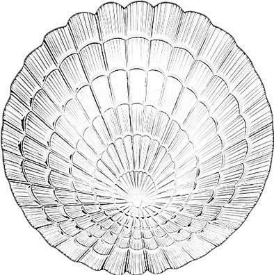 Тарелка стеклянная Pasabahce Atlantis 10236 (1шт / 24 см)