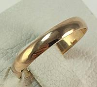 Кольцо обручальное золотое 585 проба 16,5 размер