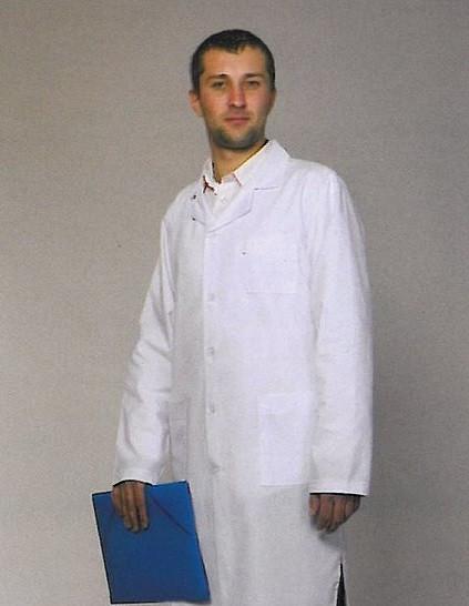 Классический белый медицинский халат для мужчин