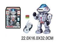 Р/У ИК Робот, стреляет дисками, свет, звук, ходит, танцует, в кор. 22х16х32 /18/