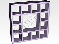 "Книжный шкаф Стенка"" 4х4, 1442*1442*293 мм, вудлайн кремовий HDF"
