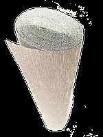 ИТАЛЬЯНСКАЯ ГОФРИРОВАННАЯ БУМАГА CARTOTECNICA ROSSI металлик Серебро+белая 50X250 СМ N808