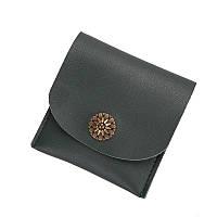 Женский кошелек компактный зеленый, фото 1