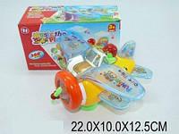 "Муз. игрушка ""Самолет"", батар., свет, звук, 4 вида, в кор. 22х10х12 /72-2/"