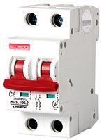 Модульный автоматический выключатель C6, 2 р, 6А, C, 10кА