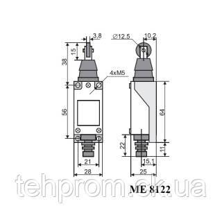 Выключатель концевой МЕ-8122, фото 2