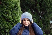 Шапка I&M Craft вязаная из кид-мохера в стиле Tak.Ori (090109), фото 3