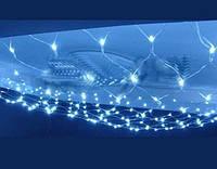 Новогодняя LED гирлянда сетка размер 1,5х1,5 м  на 120 светодиодов