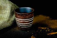 Стакан из красной глины ангоб, ангоб декор