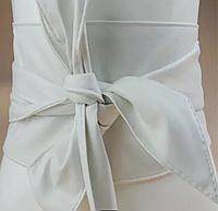 Универсальный женский кожаный пояс для любой одежды. Белый ( Молочный ) широкий и длинный пояс
