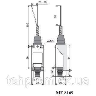 Выключатель концевой МЕ-8169, фото 2