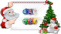 Новогодняя игрушка шар Деколь 6см