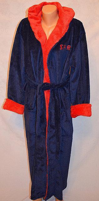 Теплый махровый халат для мальчика (8-10 лет) оптом и в разницу