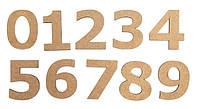 """Заготовка цифра """"0"""", высота 3 см, МДФ, ROSA Talent, 4801416"""