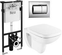 Комплект: DEBBA унитаз подвесной, Active инсталляция для унитаза, Active кнопка, сиденье твердое slow-closing