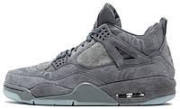 Баскетбольные кроссовки Air Jordan 4 Retro KAWS Grey Аир Джордан 4 Ретро серые