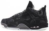 Баскетбольные кроссовки Air Jordan 4 Retro KAWS Black Аир Джордан 4 Ретро черные