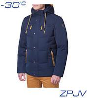 Куртка зимняя мужская Ajento - 8166A темно-синяя