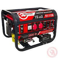 Генератор бензиновый макс мощн 3,1 кВт., ном. 2,8 кВт., 6,5 л.с., 4-х тактный, электрический и ручной пуск 51,7 кг. INTERTOOL DT-1128
