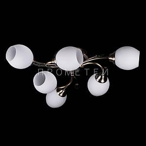 Люстра на 6 лампочек (античная бронза). P3-91524/6C/AB+MK